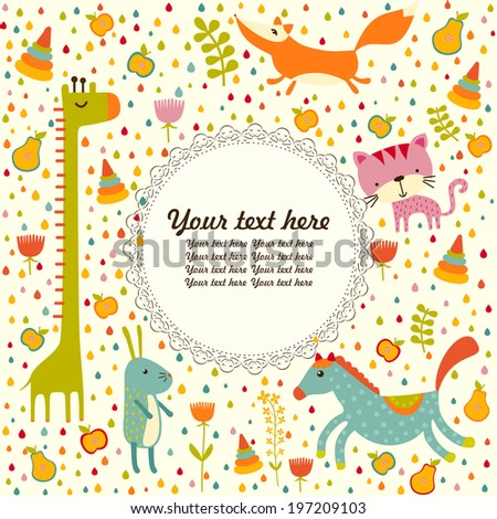 Baby greeting card - stock vector