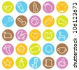 baby icons for designs and others - stock vector