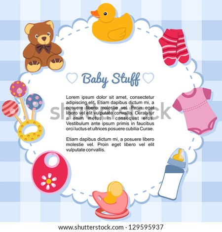baby stuff stock photos illustrations and vector art