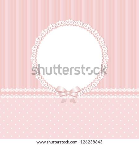 Baby pink vector background - stock vector