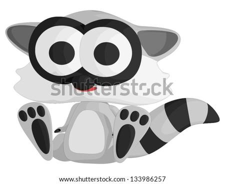 Baby Raccoon - stock vector