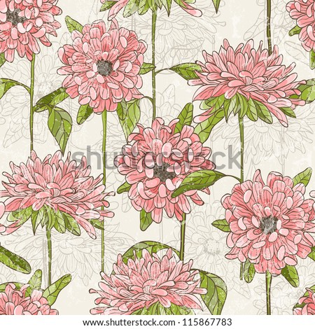 Baby seamless pattern with cute birds. Vector illustration EPS 10. - stock vector