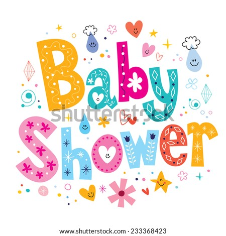 Baby Shower - stock vector
