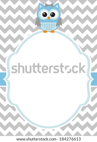 baby shower baby boy invitation card template stock vector