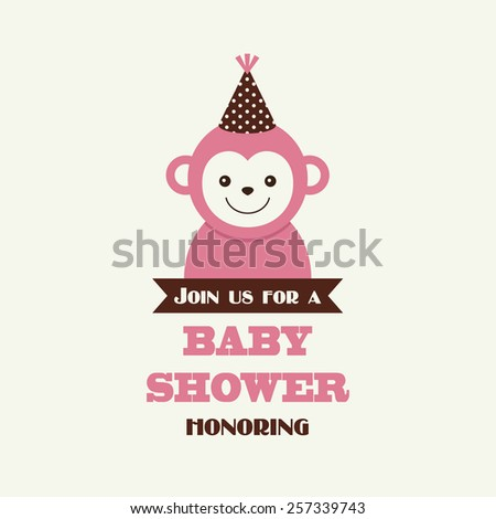 baby shower card - stock vector