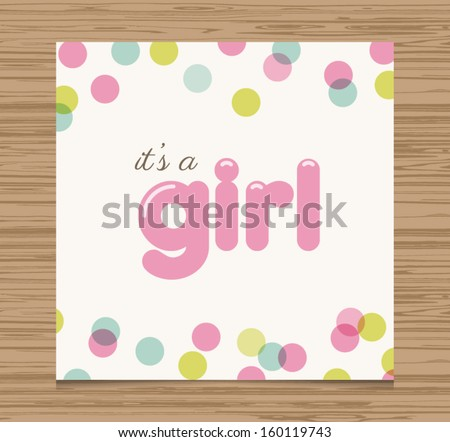 baby girl font baby shower card baby girl