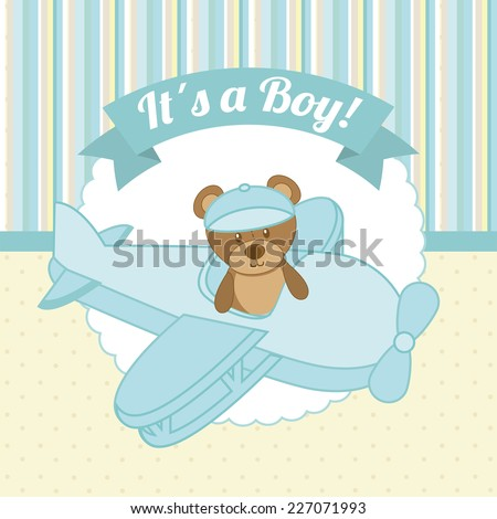 baby shower graphic design , vector illustration - stock vector