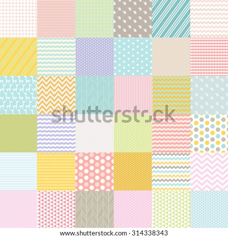Baby Shower Poster, Vector Illustration - stock vector