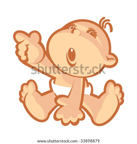 Baby-2. Without a gradient - stock vector