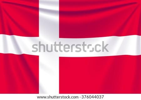 back flag denmark - stock vector