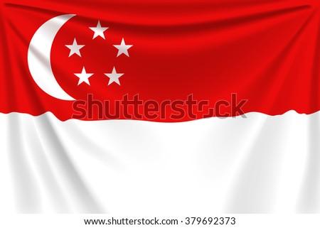 back flag singapore - stock vector