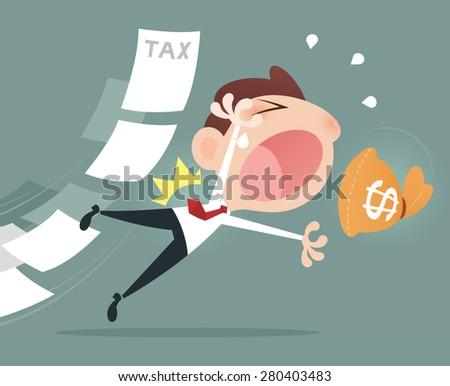 Back taxes - stock vector