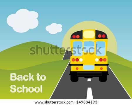 Back to school bus  - stock vector