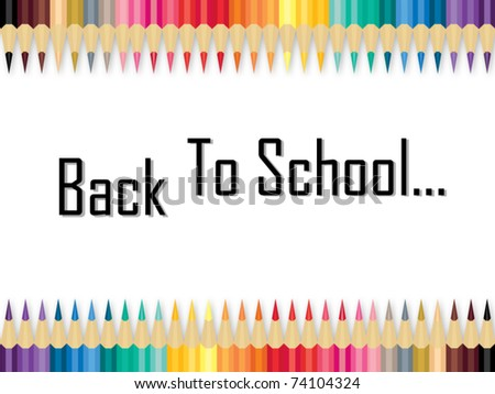 Back to school by pencil color - stock vector
