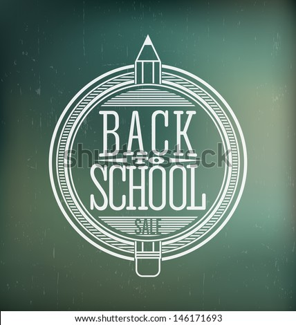 Back to School Calligraphic Designs | Retro Style Elements | Vintage Ornaments - stock vector