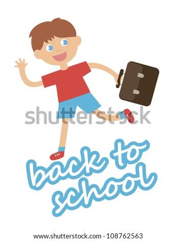 back to  school card design. vector illustration - stock vector