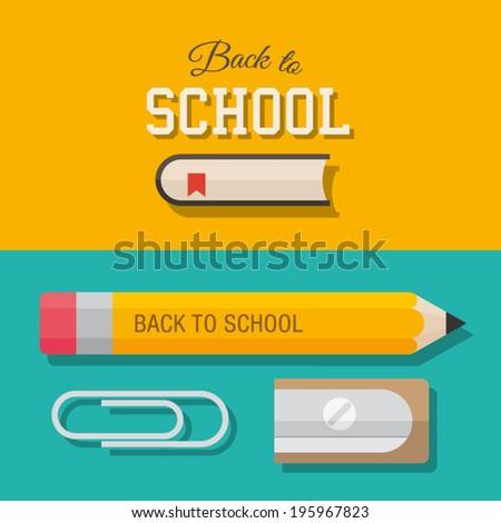 Back to school, design elements  - stock vector