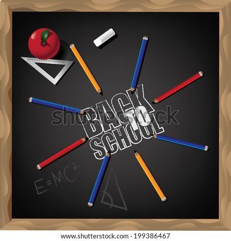 Back to school design. EPS 10 vector.  - stock vector