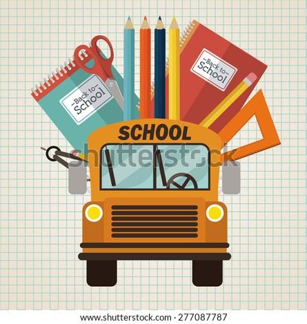 Back to school design over white background, vector illustration - stock vector