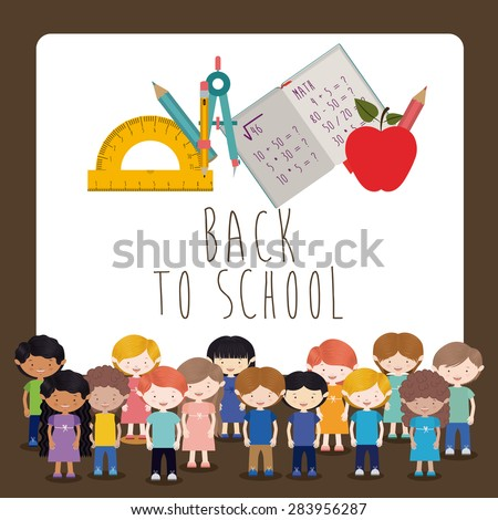 Back to school design over white background, vector illustration - stock vector