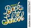 Back to school design template - stock vector