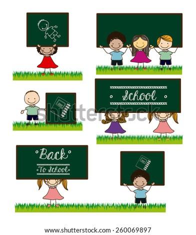 Back to school design, vector illustration - stock vector