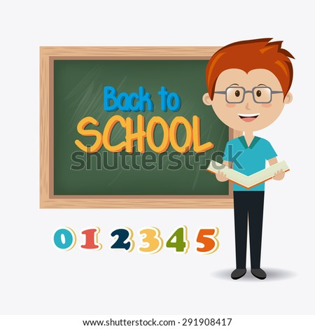 Back to school design, vector illustration eps 10. - stock vector