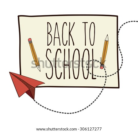 Back to School digital design, vector illustration eps 10 - stock vector