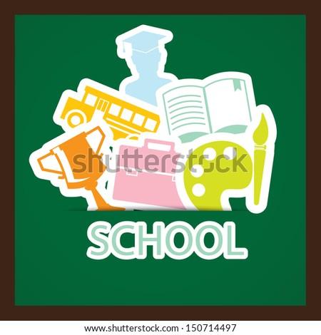 back to school,EPS10 - stock vector