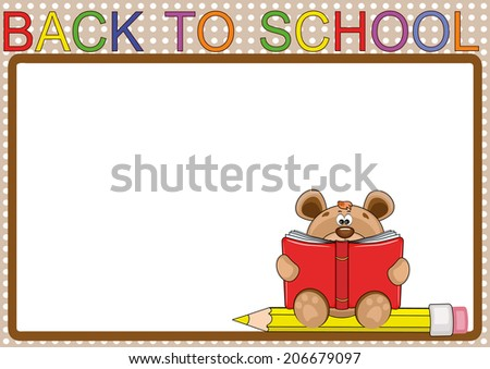 Back to school,frame. - stock vector