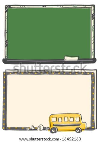 Back to School Frames - stock vector