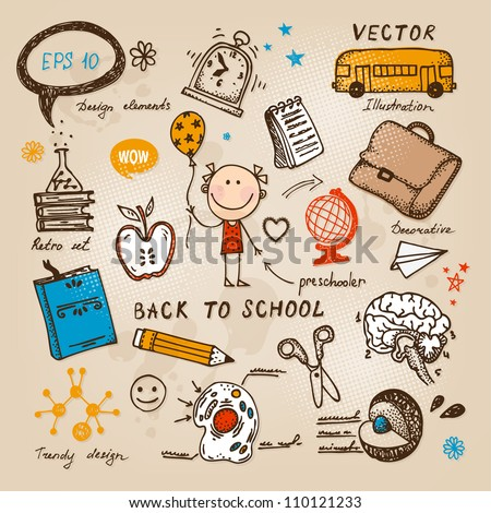 Back To School illustration - stock vector