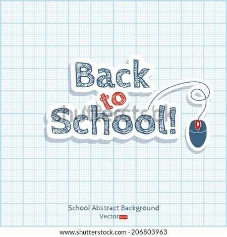 Back to school illustration. - stock vector