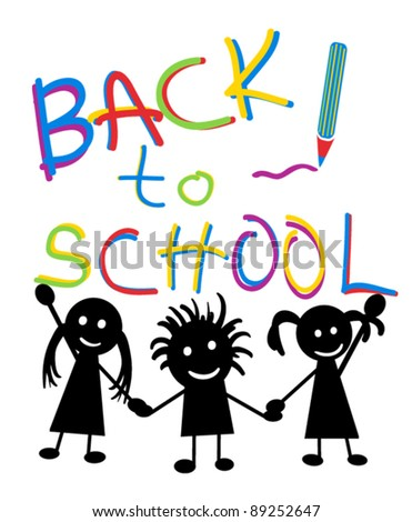 Back to school image - stock vector