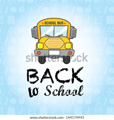 back to school over blue background vector illustration - stock vector