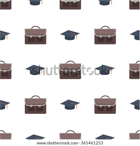 Back to school seamless background pattern. Vector illustration.Seamless school background with linear icons. Education style. Cute back to school colorful background - stock vector