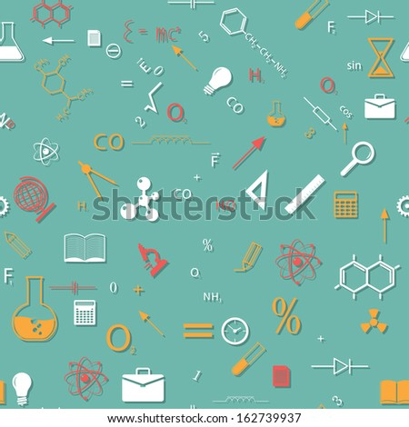 back to school. seamless vector colored background. eps10 - stock vector