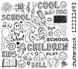 Back to school. Sketchy design elements. - stock vector
