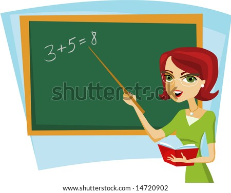 back to school - teacher in the class - stock vector