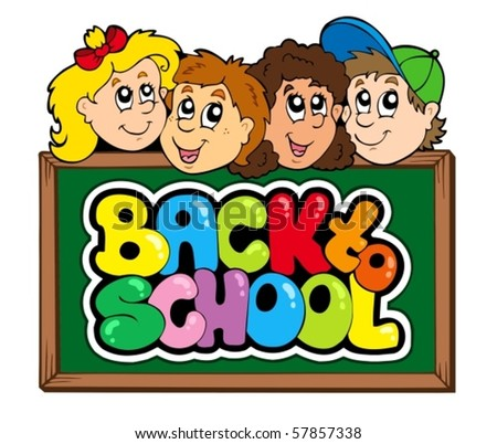 Back to school theme 5 - vector illustration. - stock vector