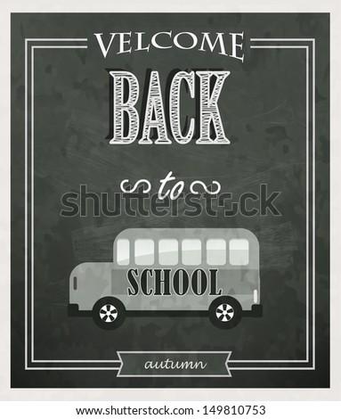 Back to School Typographic Elements. - stock vector