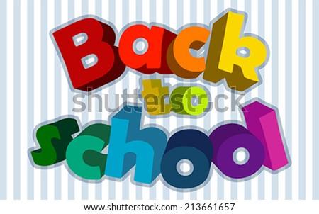 Back to school , vector  - stock vector