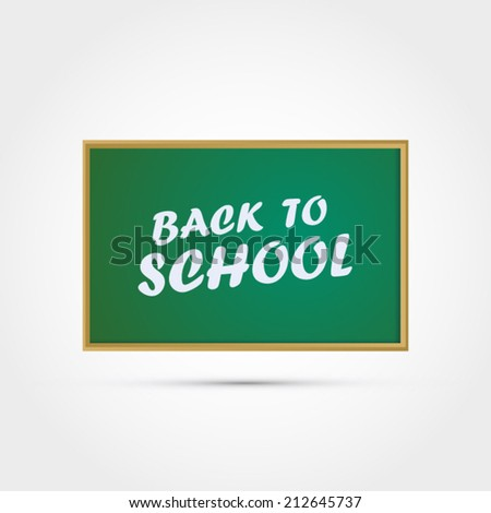 Back to school vector illustration - stock vector
