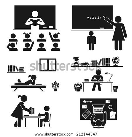 Back to school. Vector set. School children. Back to school. Vector set. School children. - stock vector