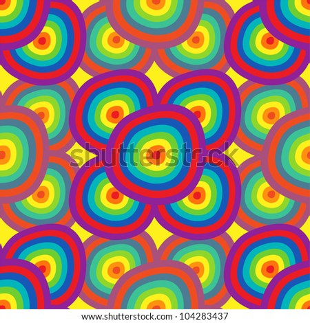 Background abstraction - a seamless pattern in the colors of the rainbow. EPS10 vector. - stock vector
