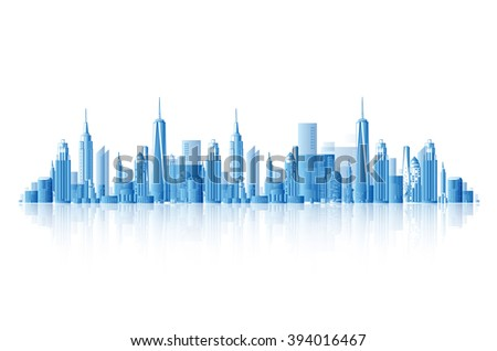 Background architectural vector modern city - stock vector