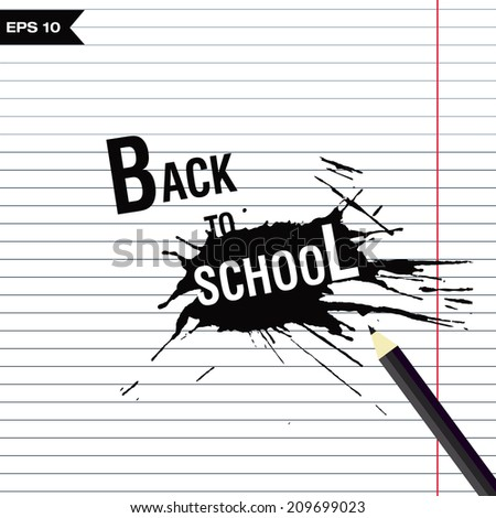 background back to school - stock vector