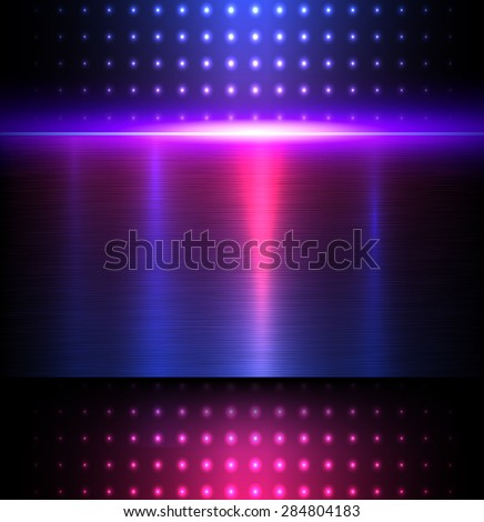 Background blue metal texture, vector illustration. - stock vector