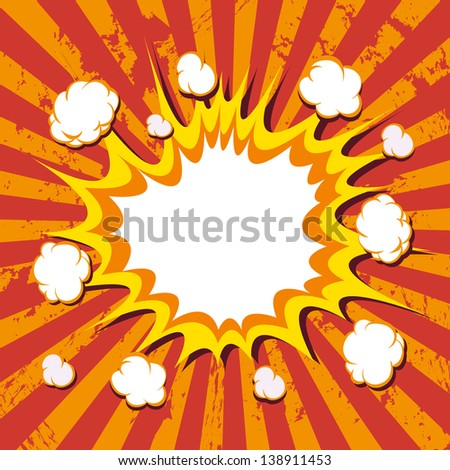 Background. Boom comic book explosion - stock vector