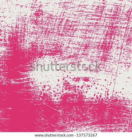 Background - brushed pink grunge texture. EPS10 vector. - stock vector